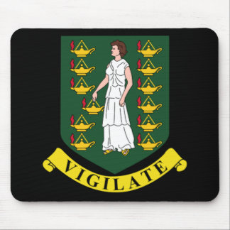Coat of arms of the British Virgin Islands Mouse Pads