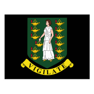 Coat of arms of the British Virgin Islands Postcard