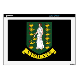 """Coat of arms of the British Virgin Islands Skins For 17"""" Laptops"""