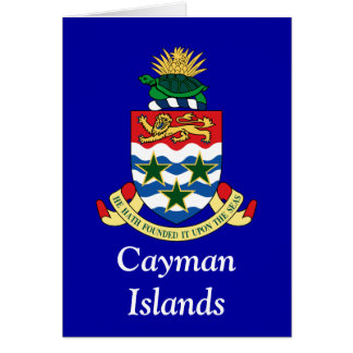 Coat of arms of the Cayman Islands Greeting Card