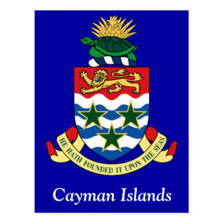Coat of arms of the Cayman Islands Post Cards