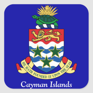 Coat of arms of the Cayman Islands Square Sticker