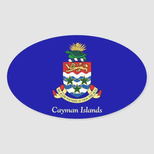 Coat of arms of the Cayman Islands Oval Sticker
