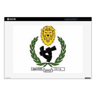 """Coat_of_arms_of_the_Democratic_Republic_of_ Decals For 15"""" Laptops"""