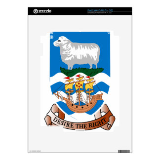 Coat_of_arms_of_the_Falkland_Islands Skin For The iPad 2
