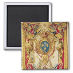 Coat of arms of the French Royal Family 2 Inch Square Magnet