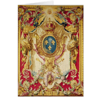 Coat of arms of the French Royal Family Card