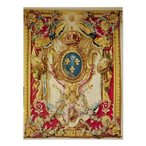 Coat of arms of the French Royal Family Poster