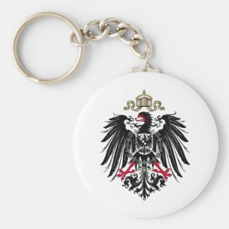 Coat of Arms of the German Empire (1889-1918) Basic Round Button Keychain