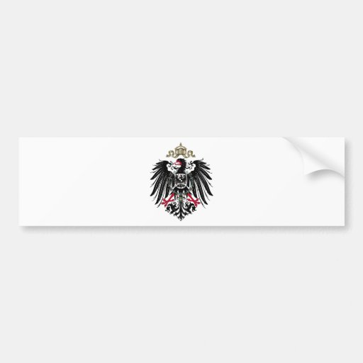 Coat of Arms of the German Empire (1889-1918) Bumper Stickers