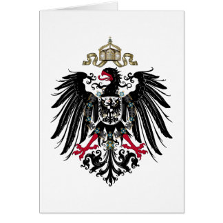 Coat of Arms of the German Empire (1889-1918) Greeting Card