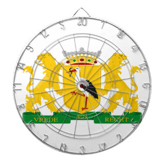 Coat of arms of The Hague Dartboard With Darts