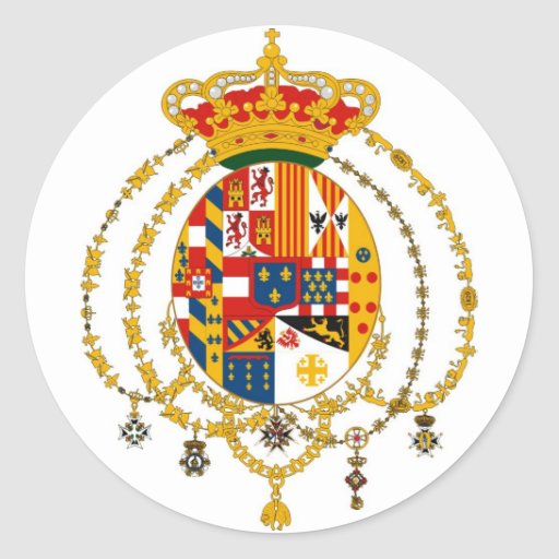 Coat of Arms of the Kingdom of the Two Sicilies Classic Round Sticker