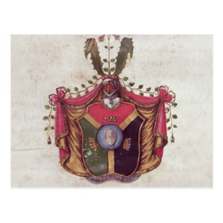 Coat of Arms of the Linnaeus family Postcard
