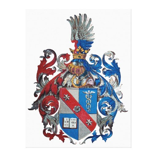 Coat of Arms of the Ludwig Von Mises Family Stretched Canvas Print