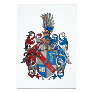 Coat of Arms of the Ludwig Von Mises Family 3.5x5 Paper Invitation Card