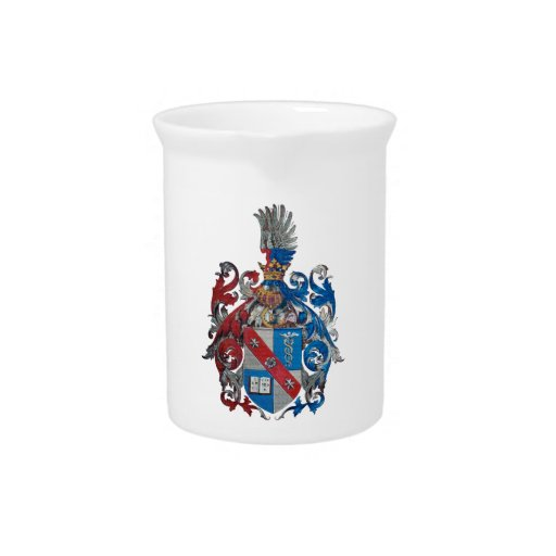 Coat of Arms of the Ludwig Von Mises Family Beverage Pitchers