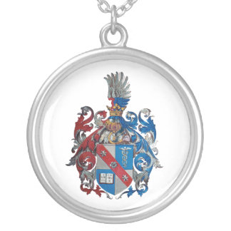 Coat of Arms of the Ludwig Von Mises Family Silver Plated Necklace