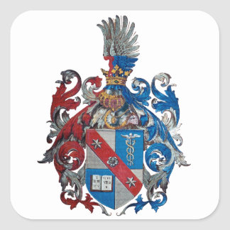Coat of Arms of the Ludwig Von Mises Family Square Sticker