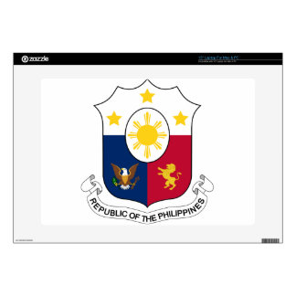 "Coat_of_arms_of_the_Philippines_(1946–1978) Decals For 15"" Laptops"