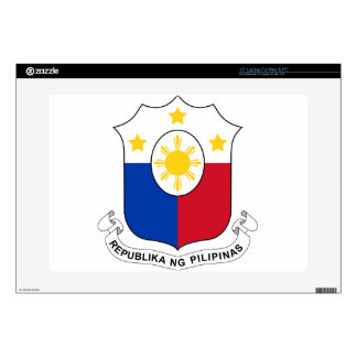 "Coat_of_arms_of_the_Philippines_(per_1998_Law) Decal For 15"" Laptop"
