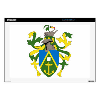 "Coat_of_arms_of_the_Pitcairn_Islands Decal For 17"" Laptop"