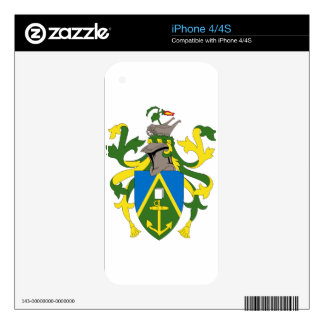 Coat_of_arms_of_the_Pitcairn_Islands Decals For The iPhone 4S