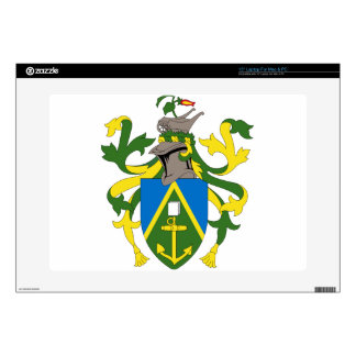 "Coat_of_arms_of_the_Pitcairn_Islands Skins For 15"" Laptops"