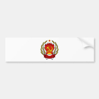 Coat of Arms of the Russian SFSR Bumper Sticker