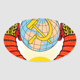 Coat of Arms of the Soviet Reunion Oval Sticker