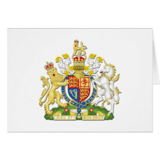 Coat Of Arms Of The United Kingdom Card