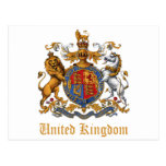 COAT OF ARMS OF THE UNITED KINGDOM POST CARDS