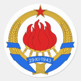 Coat of Arms of Yugoslavia (1945-1992) Round Sticker