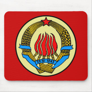 COAT-OF-ARMS OF YUGOSLAVIA MOUSE PAD