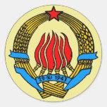 COAT-OF-ARMS OF YUGOSLAVIA STICKER