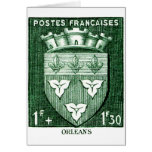 Coat of Arms, Orleans France Greeting Card