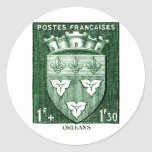 Coat of Arms, Orleans France Round Stickers