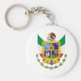Coat of Arms Queretaro Official Mexico Symbol Logo Basic Round Button Keychain