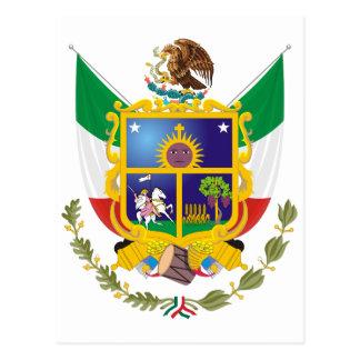 Coat of Arms Queretaro Official Mexico Symbol Logo Postcard