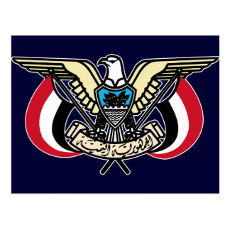 Coat of Arms Republic of Yemen Postcard