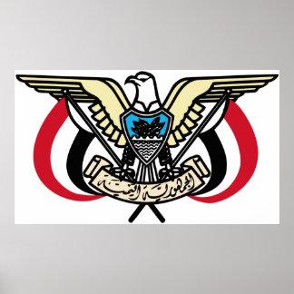Coat of Arms Republic of Yemen Poster Print