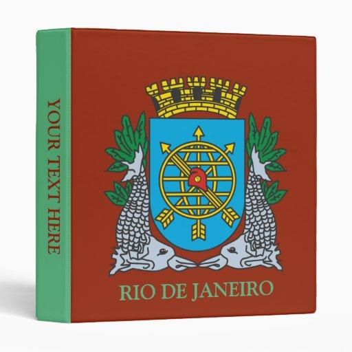 Coat of Arms Rio de Janeiro Brazil Binders