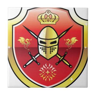 Coat of Arms Royal Knight logo Ceramic Tile
