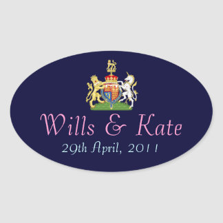Coat of Arms Royal Wedding Sticker