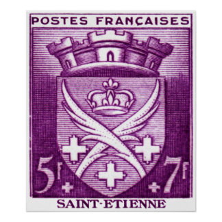 Coat of Arms, Saint Etienne France Poster