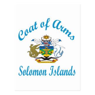 Coat Of Arms Solomon Islands Post Card