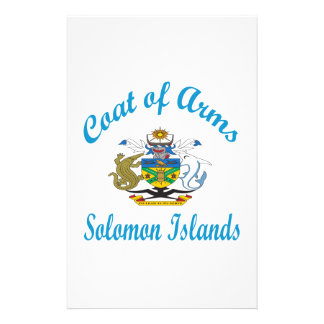 Coat Of Arms Solomon Islands Stationery Design