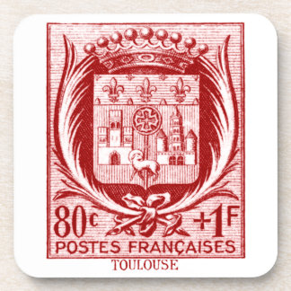 Coat of Arms, Toulouse France Drink Coaster