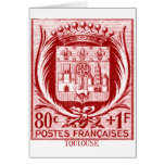 Coat of Arms, Toulouse France Greeting Card