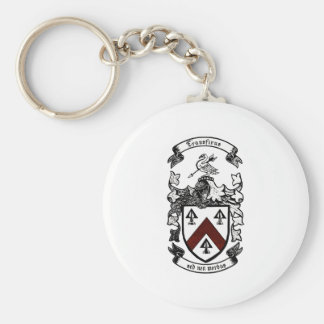 Coat of arms - Transfixus sed non morbus (redchev) Keychain